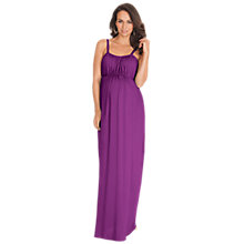 Buy Séraphine Margo Maternity Maxi Dress, Plum Online at johnlewis.com