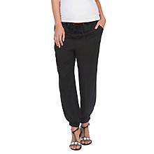 Buy Séraphine Harmony Harem Maternity Trousers, Black Online at johnlewis.com