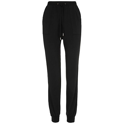 Buy Whistles Lola Jersey Lounge Trousers, Black Online at johnlewis.com