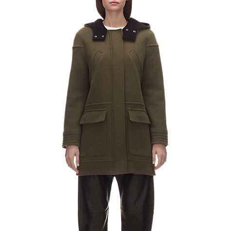 Buy Whistles Ruby Hooded Coat, Khaki Online at johnlewis.com