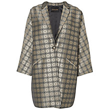 Buy Jaeger Metallic Jacquard Coat, Gold Online at johnlewis.com