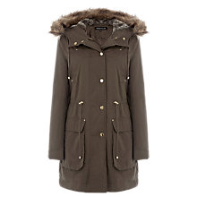 Buy Warehouse Clean Parka, Khaki Online at johnlewis.com