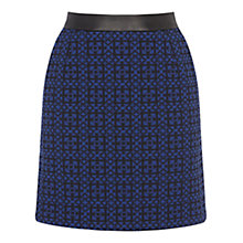 Buy Warehouse Geo Jacquard Skirt, Blue Online at johnlewis.com