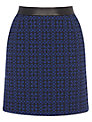 Warehouse Geo Jacquard Skirt, Blue