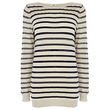 Buy Oasis Pointelle Sparkle Jumper, Light Neutral Online at johnlewis.com