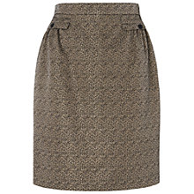 Buy Jaeger Gathered Waist Lurex Skirt, Gold Online at johnlewis.com