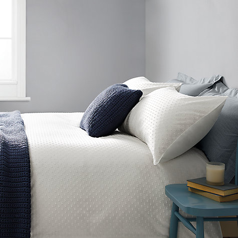 Buy John Lewis Croft Collection Bethany Duvet Covers and Pillowcases, White Online at johnlewis.com