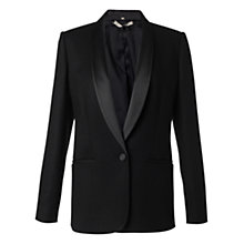 Buy Jigsaw Wool Ponte Jacket, Black Online at johnlewis.com