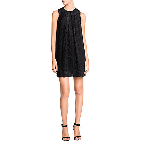 Buy Mango Textured Tulle Dress, Black Online at johnlewis.com
