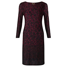 Buy Jigsaw Ombre Print Jersey Dress, Red Online at johnlewis.com