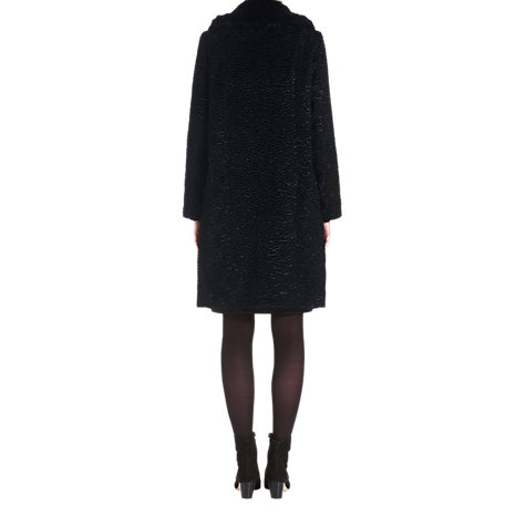 Buy Jigsaw Textured Faux Fur Coat, Black Online at johnlewis.com