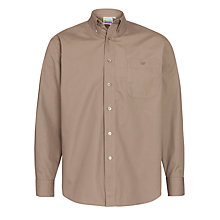 Buy Explorers Boys' Long Sleeve Shirt, Beige Online at johnlewis.com