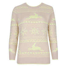 Buy Ted Baker Alexia Fair Isle Jumper, Bright Yellow Online at johnlewis.com
