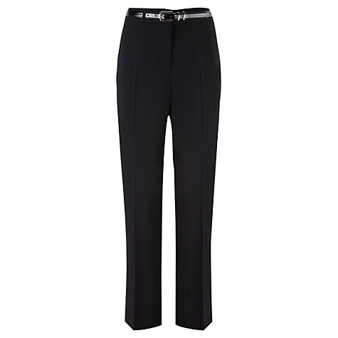 Buy Viyella Belted Twill Trousers, Black Online at johnlewis.com