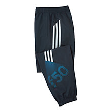 Buy Adidas Boys' F50 Woven Track Trousers, Navy Online at johnlewis.com