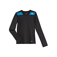 Buy Adidas Boy's Techfit Long Sleeve Top, Black Online at johnlewis.com