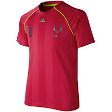 Buy Adidas Boy's Team Messi T-Shirt, Pink Online at johnlewis.com