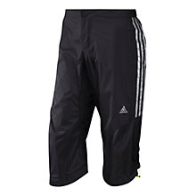 Buy Adidas Tour Cycling Rainshorts, Black/Silver Online at johnlewis.com