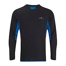 Buy Ronhill Advance Crew Neck Top, Black/Blue Online at johnlewis.com