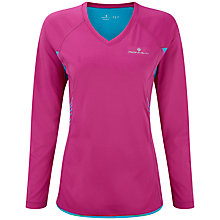 Buy Ronhill Aspiration Long Sleeve T-Shirt, Pink Online at johnlewis.com