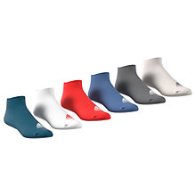 Buy Adidas Plain Liner Socks, Pack of 6, Multi Online at johnlewis.com