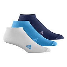 Buy Adidas Plain Liner Socks, Pack Of 3 Online at johnlewis.com