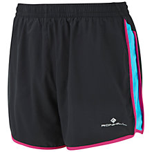 Buy Ronhill Aspiration Liberty Shorts, Black/Magenta Online at johnlewis.com