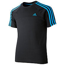 Buy Adidas Boy's Essential 3 Stripes T-Shirt Online at johnlewis.com