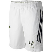 Buy Adidas Boys' Team Messi Woven Shorts, White Online at johnlewis.com