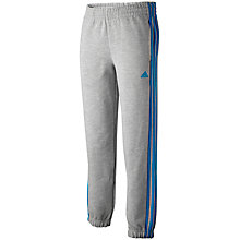 Buy Adidas Boys' Essentials Cuffed Training Trousers, Grey/Blue Online at johnlewis.com