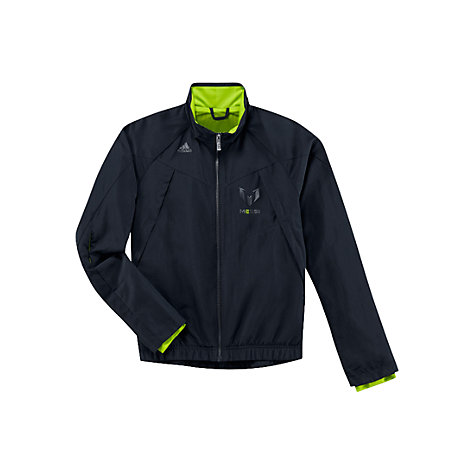 Buy Adidas Boy's Team Messi Full Zip Jacket, Navy/Yellow Online at johnlewis.com