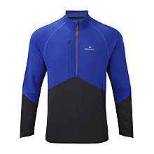 Buy Ronhill Trail Long Sleeve 1/2 Zip T-Shirt, Blue/Black Online at johnlewis.com