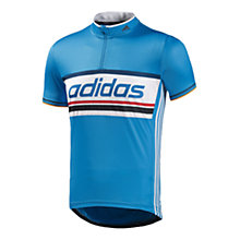 Buy Adidas Response Event Cycling Top, Blue/White Online at johnlewis.com