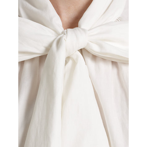 Buy Somerset by Alice Temperley Cotton Tie Neck Blouse, Cream Online at johnlewis.com