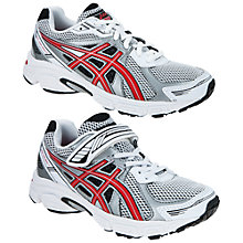 Buy Asics Galaxy Trainers, White/Red/Black Online at johnlewis.com