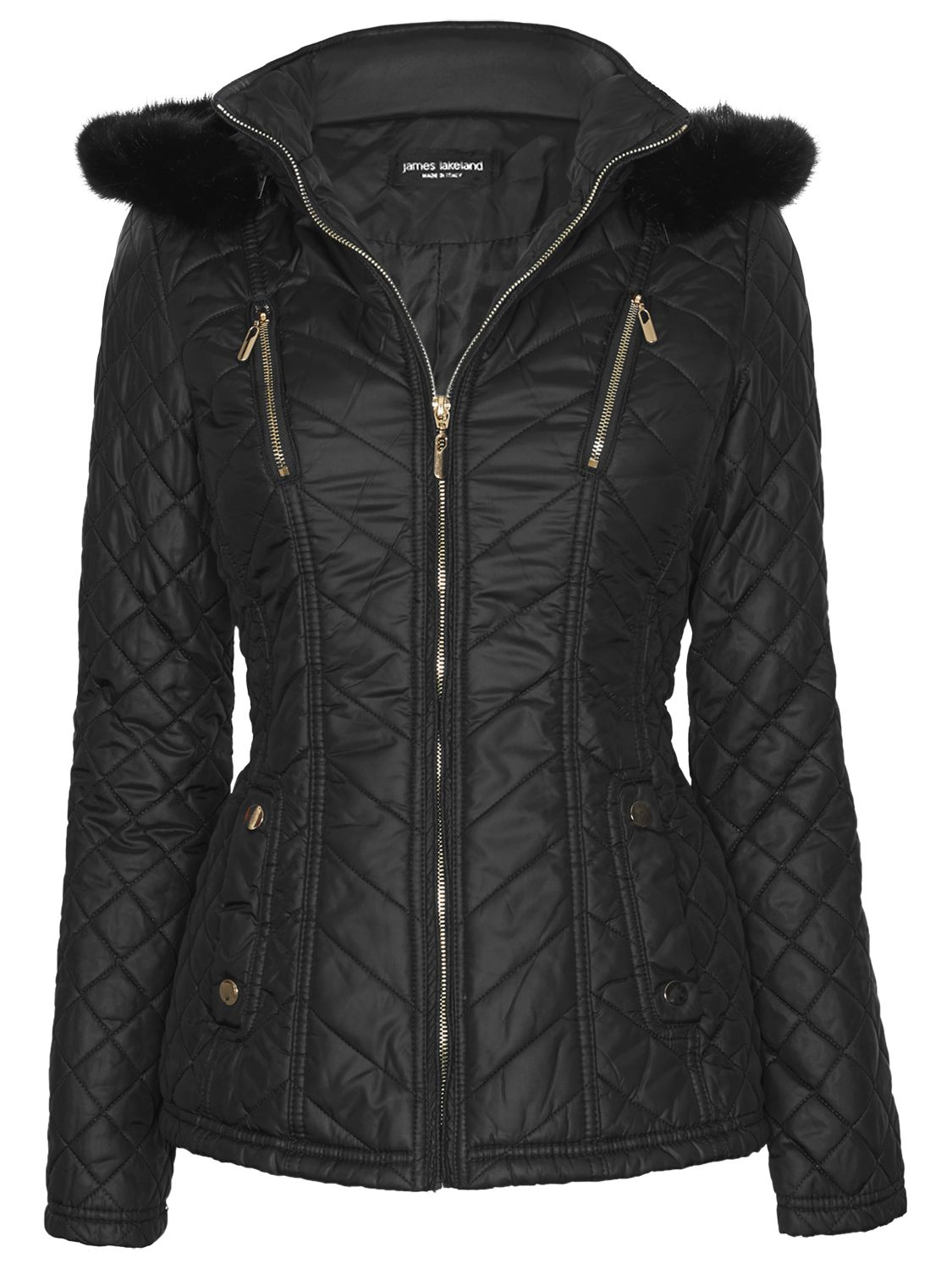 James Lakeland Hooded Quilted Jacket