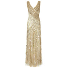 Buy Ariella Juliet Sequin Long Dress, Gold Online at johnlewis.com