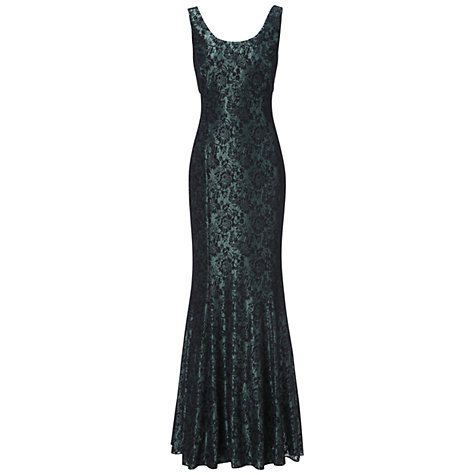 Buy Ariella Georgia Lace Long Dress, Emerald Online at johnlewis.com