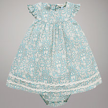 Buy John Lewis Baby Daisychain Print Dress and Knickers Set, Turquoise Online at johnlewis.com