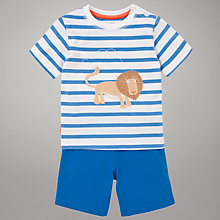 Buy John Lewis Stripe Shorts & T-Shirt Outfit, Blue/White Online at johnlewis.com