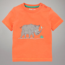 Buy John Lewis Rhino T-Shirt, Orange Online at johnlewis.com