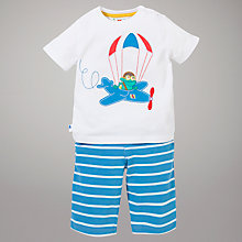 Buy John Lewis Frog Motif T-Shirt & Bottoms, White/Blue Online at johnlewis.com