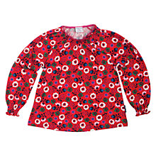 Buy Polarn O. Pyret Withernsea Top, Red Online at johnlewis.com
