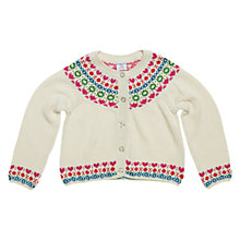 Buy Polarn O. Pyret Windermere Cardigan, Neutrals Online at johnlewis.com