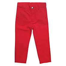 Buy Polarn O. Pyret Cedar Chinos, Poppy Online at johnlewis.com