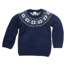 Buy Polarn O. Pyret Nordic Jumper, Indigo Online at johnlewis.com