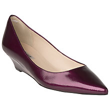 Buy L.K. Bennett Perla Saffiano Patent Leather Court Shoes, Violet Online at johnlewis.com