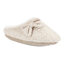 Buy Totes Cable Knit Mule Slippers, Oatmeal Beige Online at johnlewis.com