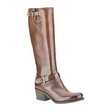 Buy Clarks Mojita Leather Block Heel Knee Boots Online at johnlewis.com