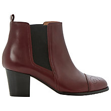 Buy Dune Black Sam Leather Chelsea Boots Online at johnlewis.com